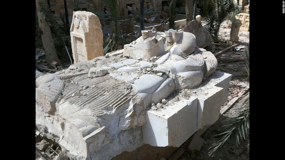 "The Syrian directorate-general of antiquities and monuments was positive that the condition of artifacts meant that they could be restored and their ""historic value"" returned, according to a translation of an article on the <a href=""http://www.dgam.gov.sy/index.php?d=314&id=1957"" target=""_blank"">department's website.</a>"