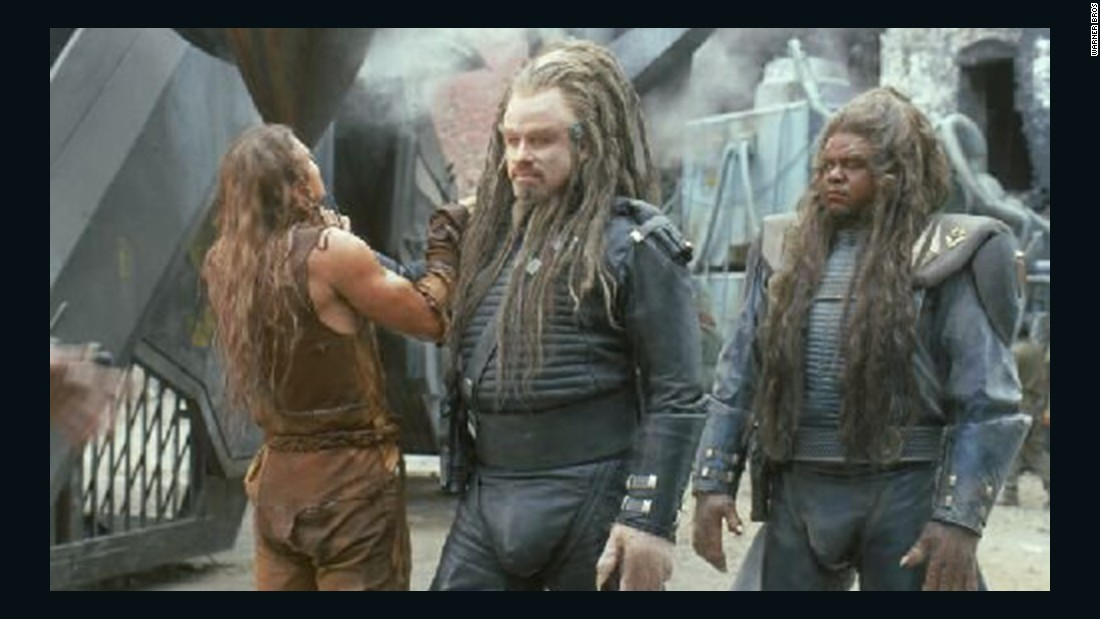 "John Travolta wore dreadlocks for his role as Terl in the film ""Battlefield Earth."" Terl is a member of the Psychlo species of humanoid aliens that takes over Earth."