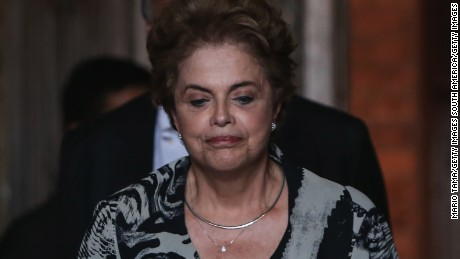 Brazil's President Dilma Rousseff, pictured in Rio de Janeiro, is facing potential impeachment.