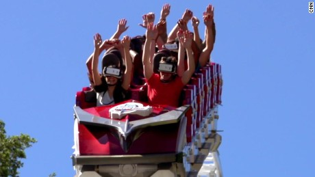 Take a ride on a virtual reality roller coaster
