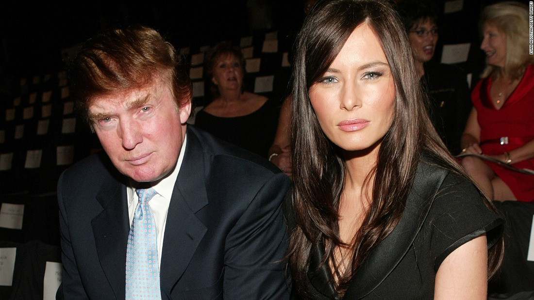 Matching stares! No wonder folks in Mrs. Trump #3's Slovenian hometown have taken The Donald to their hearts.