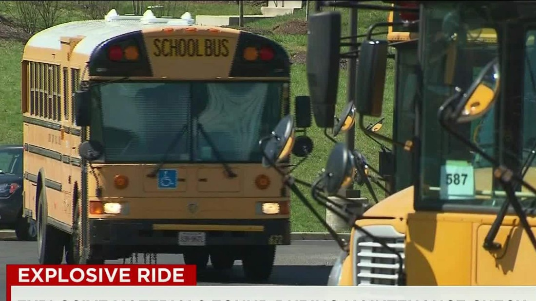 Explosive material accidentally left on school bus after training exercise