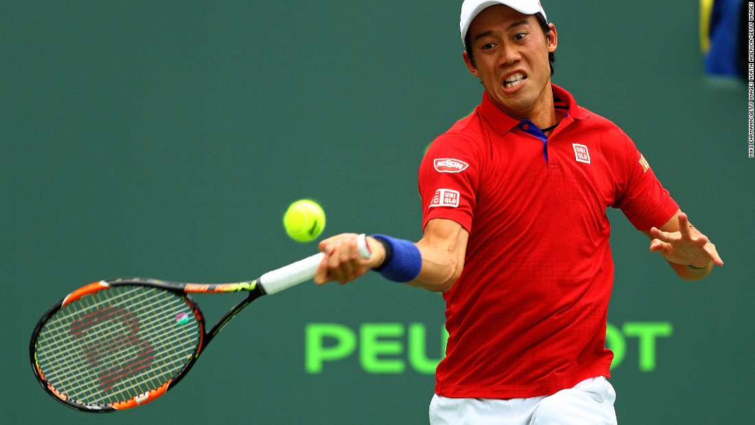 World No. 6 Nishikori dropped serve five times as he slipped to a 6-3 6-3 defeat.