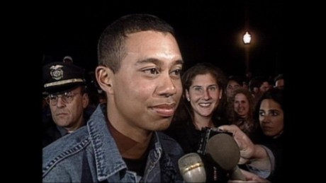 Tiger Woods speaks to CNN after 1997 Masters win