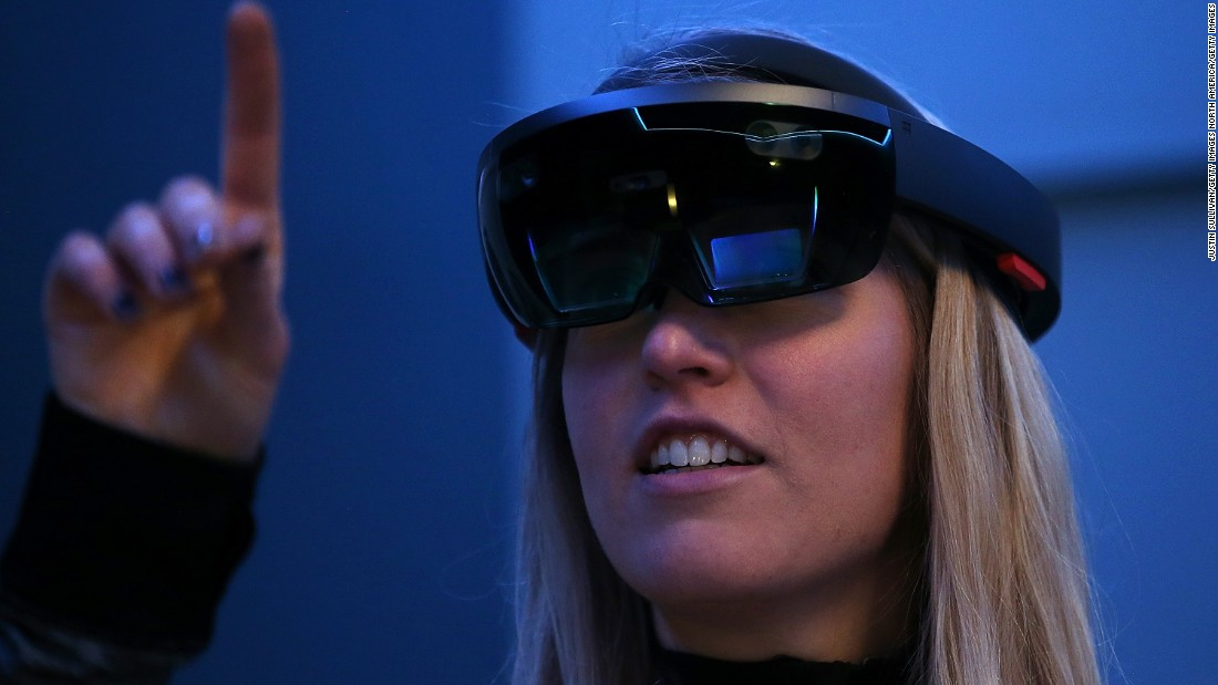 "The impressive <a href=""http://money.cnn.com/2015/01/22/technology/microsoft-hands-on-hololens/"">Microsoft Hololens</a> headset has just begun shipping to developers for $3,000 a piece. Price and release date for a consumer version have not been set."