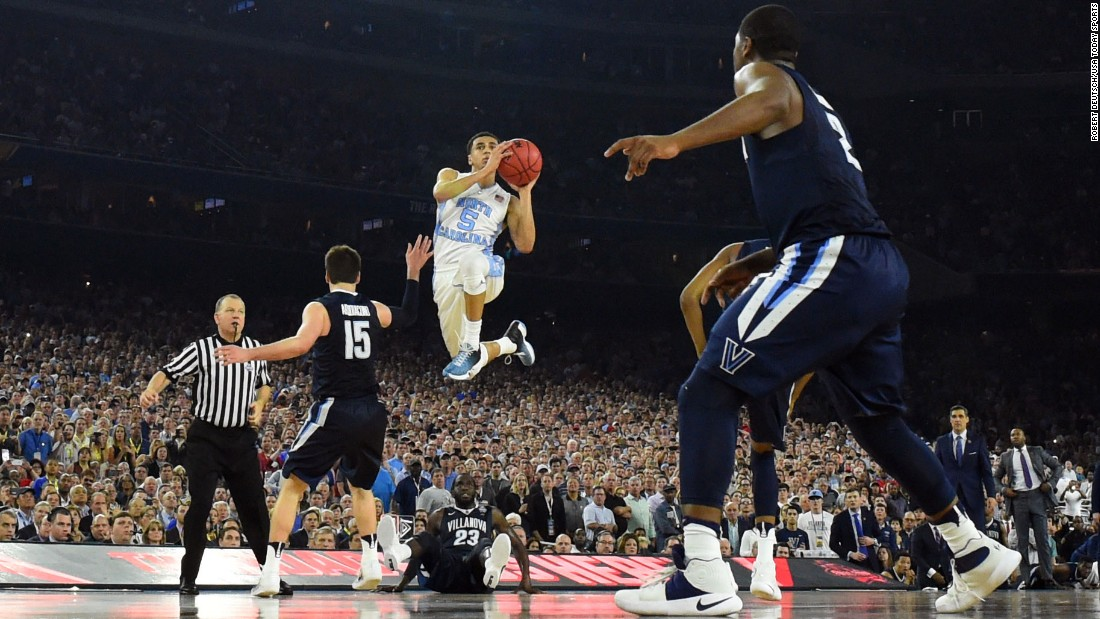 North Carolina guard Marcus Paige shoots a 3-pointer that tied the game with under five seconds to play. The senior point guard had a game-high 21 points.