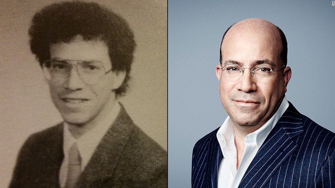 "The hair up there! Here's CNN president Jeff Zucker in his high school yearbook photo, back when he ran the ""Crimson,"" his school paper."