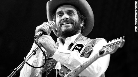 Merle Haggard performs in Fresno, California in 1986.