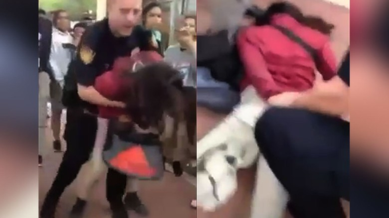 Officer slams student to the floor