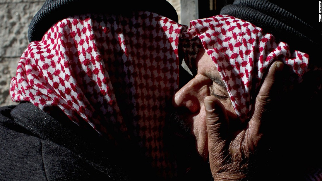 "Safi al-Kasasbeh, right, receives condolences from tribal leaders at his home village near Karak, Jordan, on February 4, 2015. Al-Kasasbeh's son, <a href=""http://www.cnn.com/2015/02/03/world/gallery/jordanian-pilot-reaction/index.html"" target=""_blank"">Jordanian pilot Moath al-Kasasbeh,</a> was burned alive in a video that was released by ISIS militants. Jordan is one of a handful of Middle Eastern nations taking part in the U.S.-led military coalition against ISIS."