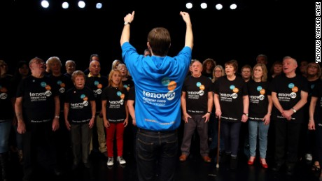 Tenovus Cancer Care runs the Sing with Us choir used in the study.