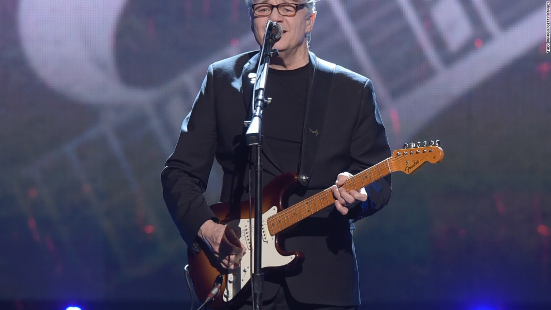 "Inductee Steve Miller performs. ""Miller perfected a psychedelic blues sound that drew on the deepest sources of American roots music and simultaneously articulated a compelling vision of what music -- and, indeed, society -- could be in the years to come,"" the Rock Hall of Fame said."