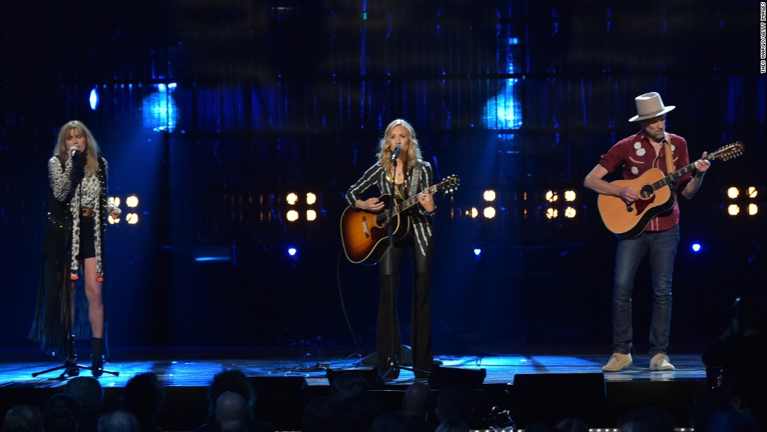 Grace Potter and Sheryl Crow perform a tribute to Glenn Frey, the co-founder of the Eagles who died earlier this year.