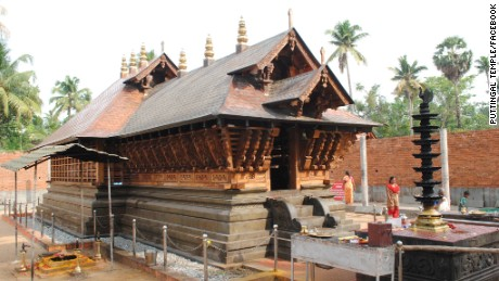 The Puttingal temple before the fire.