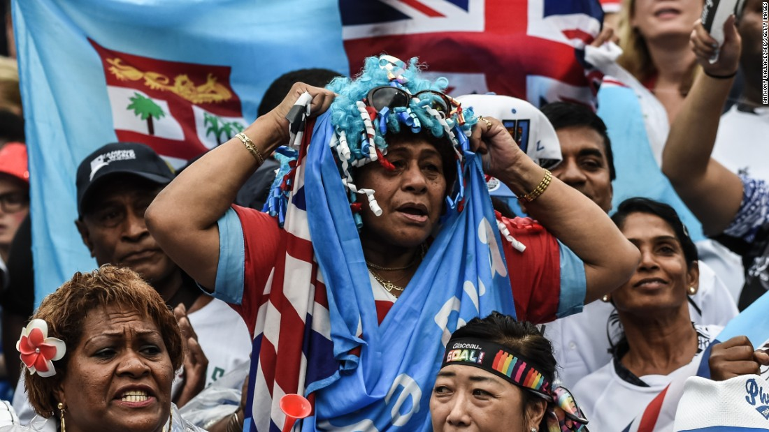 Fiji fans look anxious but had not need to worry after their team breezed past the opposition.