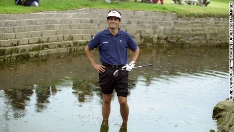Van de Velde took a triple-bogey seven on the final hole to blow the 1999 British Open at Carnoustie.