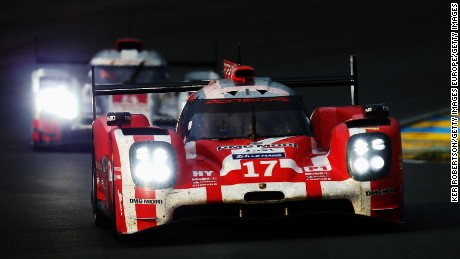 Night vision is required for the Porsche LMP1 car as it drives in the legendary Le Mans 24-hour race.
