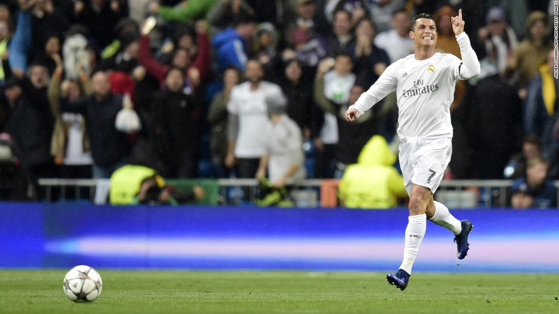 Real's Portugal striker Cristiano Ronaldo struck in the 16th minute to give his side hope at the Bernabeu stadium in Madrid.