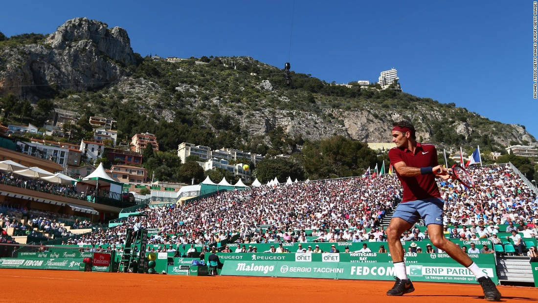 Roger Federer defeated Guillermo Garcia-Lopez 6-3 6-4 at the Monte Carlo Masters Tuesday -- his first match since being sidelined with a knee injury after the Australian Open in January