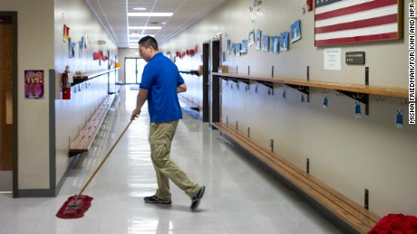 Joe Marrowbone is a janitor at a religious school in Sioux Falls.