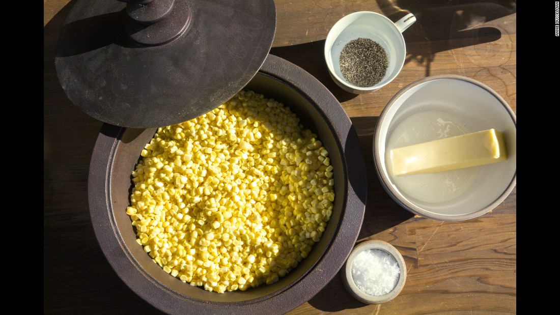 Christopher Kimball shared his mother's creamed fresh summer corn recipe. She was a school psychologist and also managed the family farm, which Kimball has since inherited. One of his favorite memories is her simple but delicious way of preparing August sweet corn. Kimball still uses the same cornfield and makes this dish in her memory.