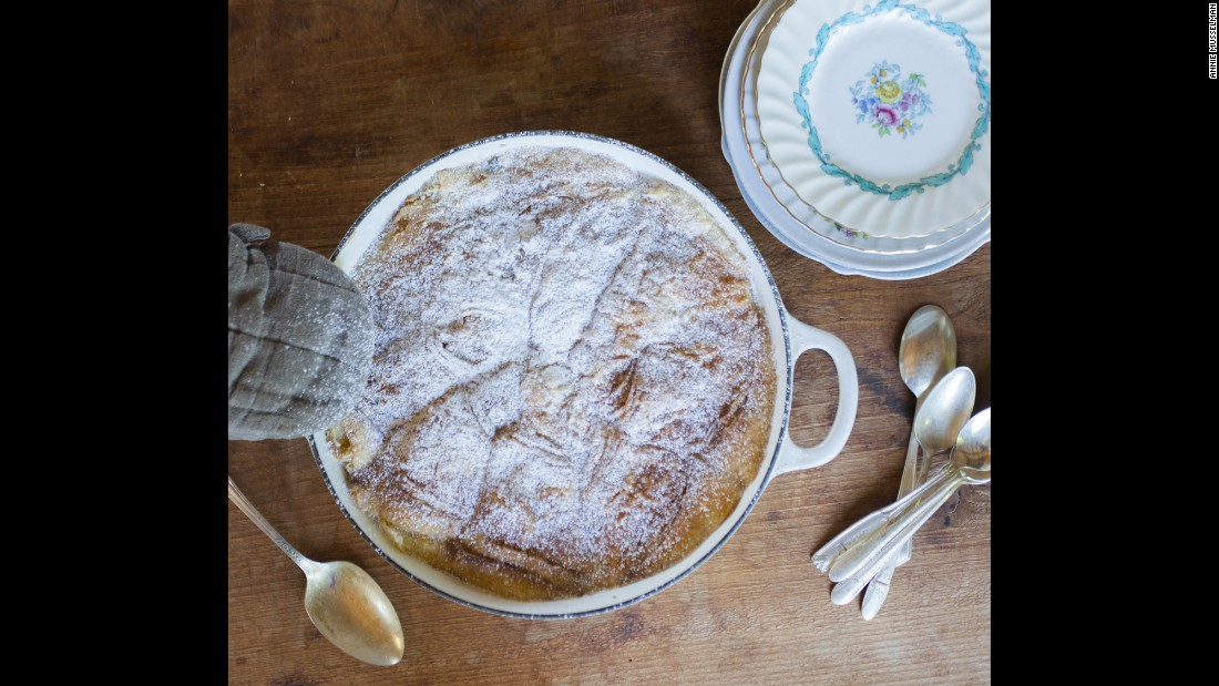 Ina Garten and her husband, Jeffrey, are famous for their warm, inviting dinner parties. Garten has a special memory of making this croissant bread pudding, the unanimously favored dessert among her closest friends, for New Year's Eve in 1999. The comfort food dish was the perfect way to begin talking about their wishes for the new millennium.