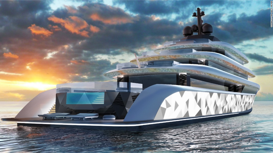 The result of an Oceanco and Van Geest Design cooperation, Moonstone -- named after the gemstone -- is a luxury vessel that literally shines thanks to an array of effects that create a visual extravaganza.