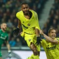Villarreal celebrate goal Europa league