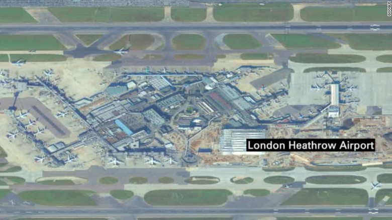 Drone apparently crashes into plane at Heathrow airport