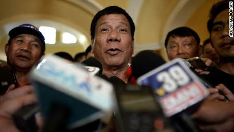 Rodrigo Duterte is running for president in the Philippines and is the mayor of Davao City.