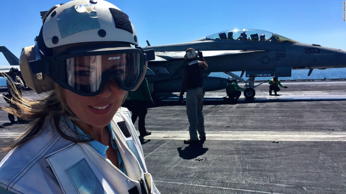 CNN's Brooke Baldwin onboard her first aircraft carrier, the USS Harry S. Truman.