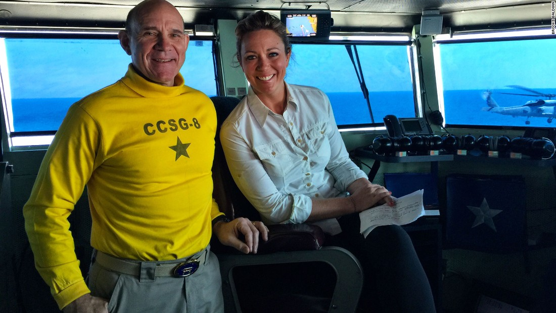 "Rear Adm. Bret Batchelder invited Brooke to see her friend in action and to tell the nation ""their great American friendship story."""