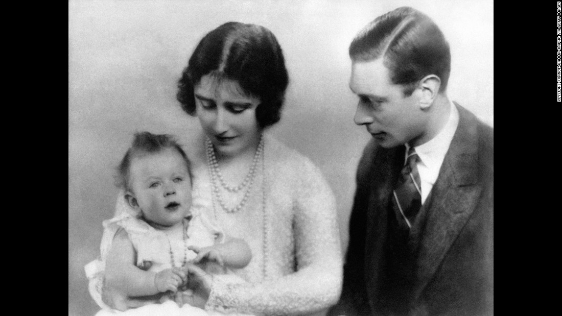 The Duke and Duchess of York with Princess Elizabeth in December 1926.