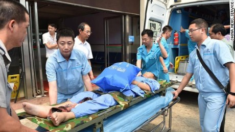 The three patients were transported to a hospital on Hainan island, according to state-run media.