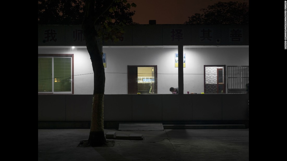 A dormitory at the center in Jinan.