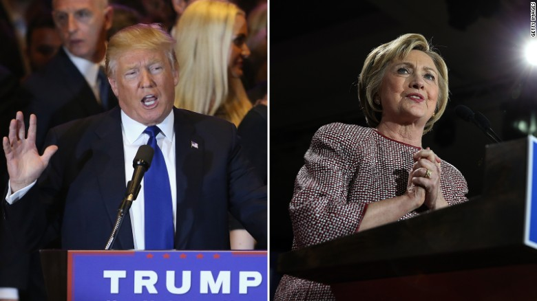 The best of Trump and Clinton's dueling New York speeches