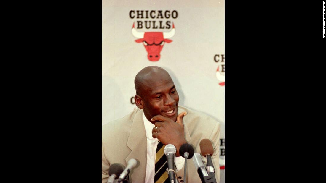 "Chicago Bulls basketball star Michael Jordan shockingly announced his retirement on October 6, 1993,  his first retirement from the game of basketball. Jordan, who was 30, said he ""had reached the pinnacle of his career"" and had nothing else to prove. Jordan went on to play minor league baseball in the Chicago White Sox organization before returning to the NBA in 1995 with a simple fax to media outlets that said, ""I'm back."" He retired again from the Bulls in 1999 and then retired for the third and final time in 2003 from the Washington Wizards."