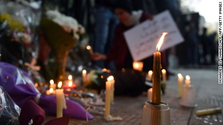 After Regeni's body was found, there was a memorial for him outside Italy's embassy in Cairo.