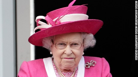 Queen Elizabeth II reacts after her horse Carlton House comes in third in the Epsom Derby at Epsom Downs racecourse on June 4, 2011 in Epsom, England.  Carlton Hall had been the Bookmakers favourite to win the Derby, but lost out to Pour Moi.