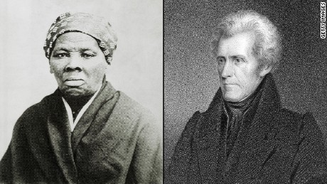 Harriet Tubman and Andrew Jackson