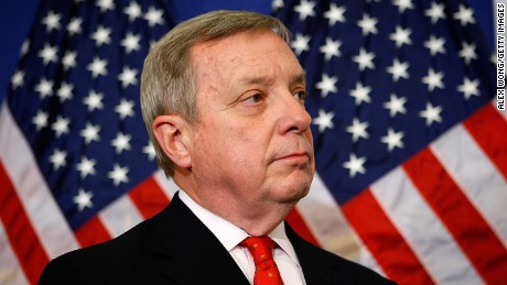 Senate Majority Whip Sen. Richard Durbin (D-IL) listens during a news conference on Capitol Hill December 3, 2009 in Washington, DC.