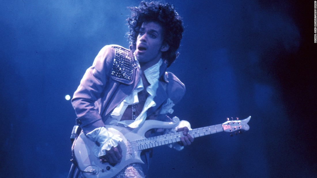 Prince performs live at the Fabulous Forum in 1985, in Inglewood, California.
