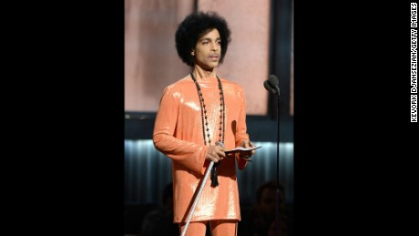 LOS ANGELES, CA - FEBRUARY 08:  Recording artist Prince speaks onstage during The 57th Annual GRAMMY Awards at the at the STAPLES Center on February 8, 2015 in Los Angeles, California.  (Photo by Kevork Djansezian/Getty Images)