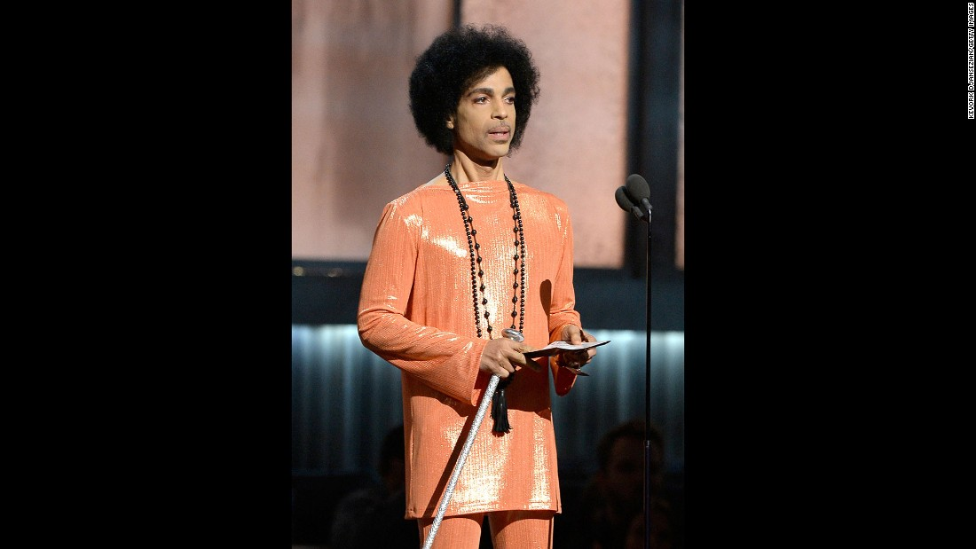 "Prince speaks at the 2015 Grammy Awards in Los Angeles. Additionally, last year, Prince released the song ""Baltimore,"" addressing the unrest after the death of Freddie Gray while in police custody. He performed at a benefit concert in the city and gave a portion of the proceeds to youth groups in Baltimore."