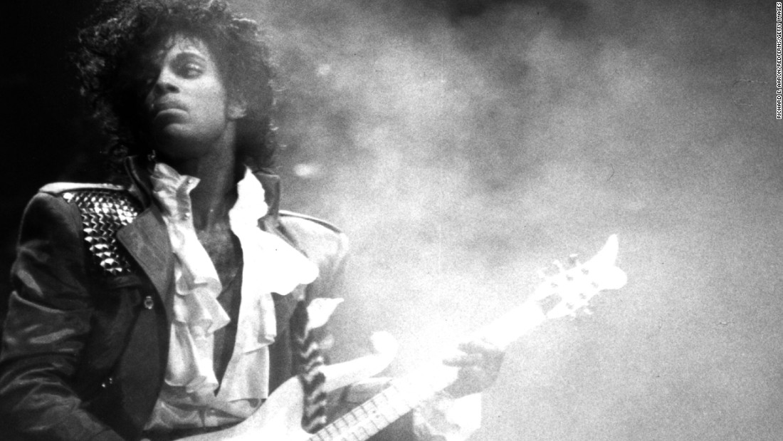 "Singer and songwriter Prince performs onstage during his Purple Rain Tour in 1984. The artist, who pioneered ""the Minneapolis sound"" and took on the music industry in his fight for creative freedom, <a href=""http://www.cnn.com/2016/04/21/entertainment/prince-estate-death/index.html"" target=""_blank"">died</a> in April 2016 at age 57."