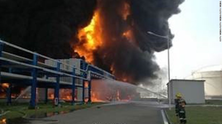 Explosion at chemical warehouse in China
