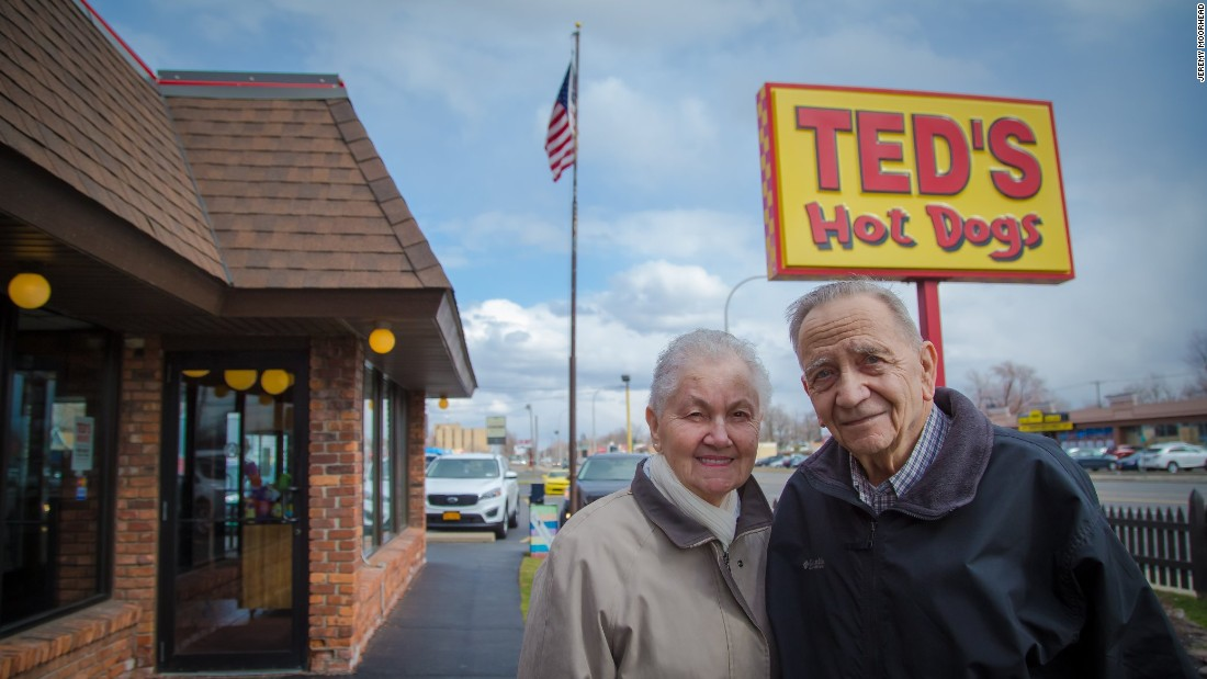 "Dolores, 85, and Richard Peters, 84, have been married since 1954 and have lived in Tonawanda, New York, just north of Buffalo, for more than 60 years. One recent afternoon over lunch at Ted's Hot Dogs, the Peterses said they've seen the population in their community change over the years, with younger people moving away in search of better jobs. Both voted for President Barack Obama twice. Neither of them planned to vote in the New York primary this year, and they haven't made up their minds about the general election. Dolores Peters says that she likes John Kasich because he seems ""down-to-earth"" and ""honest as the day is long"" and that she would have a tough time choosing between Kasich and Hillary Clinton. Bernie Sanders, meanwhile, is someone she would love to have as a neighbor, but she is not sold on the Vermont senator as a presidential candidate: ""His solutions are way out there. Just too far out."""