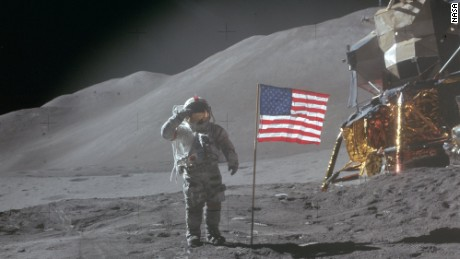 Astronaut Dave Scott went to the moon on the Apollo 15 mission in 1971.