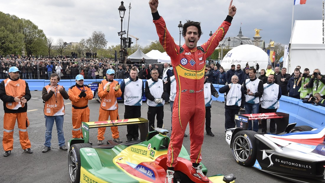 Di Grassi's win moves the Brazilian 11 points clear in the Formula E drivers' championship.