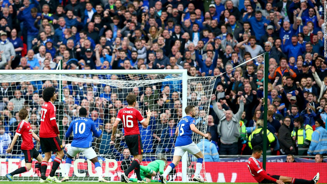 Everton did equalize but through an own goal from United defender, Chris Smalling.